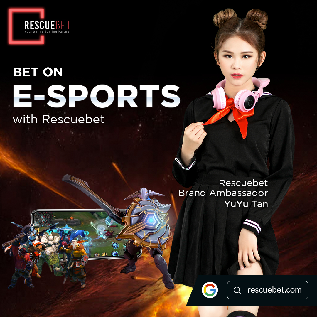 Yuyu Tan Promoting Rescuebet Esports Betting