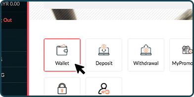 Rescuebet member dashboard interface showing the wallet button