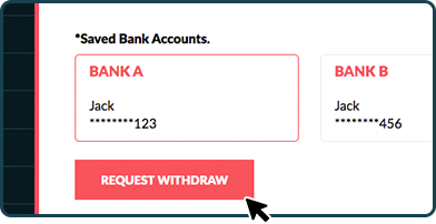 Account number field with proceed button