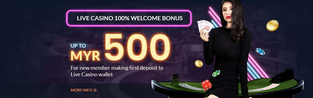 Live Casino 100% Welcome Bonus