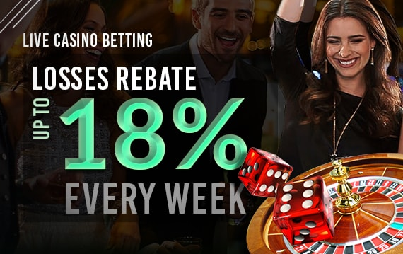 Live Casino 18% Rescue Bet