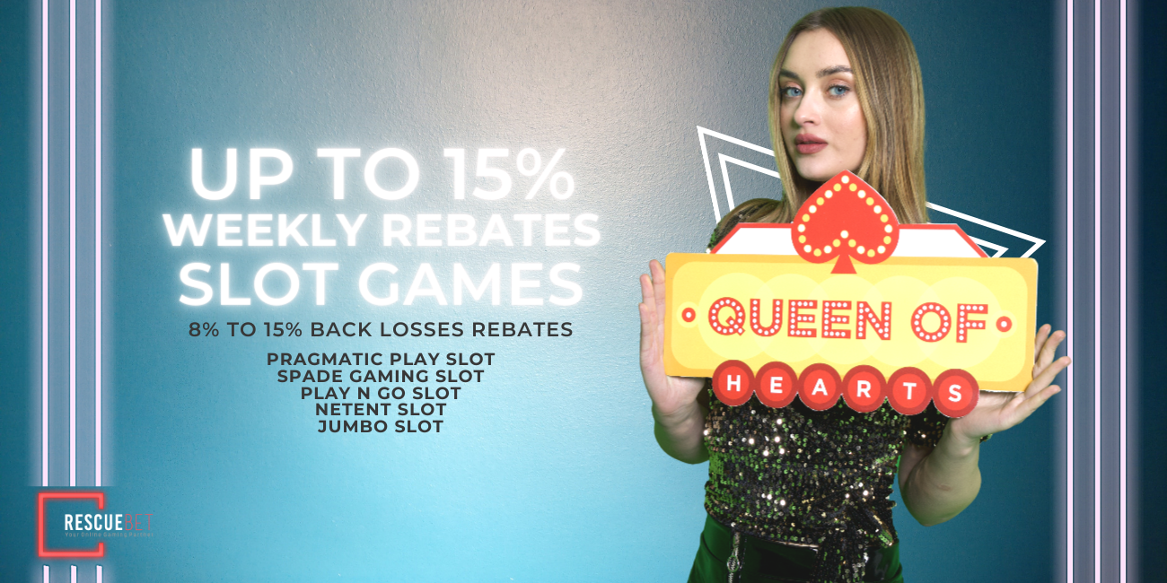 Slot Games 15% at RescueBet