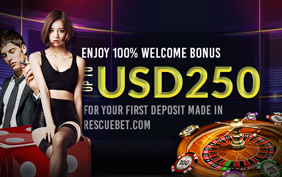 Enjoy 100% Welcome Bonus up to USD250 for your first deposit made in RescueBet.com.