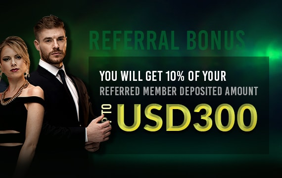 10% Bonus Up To USD300