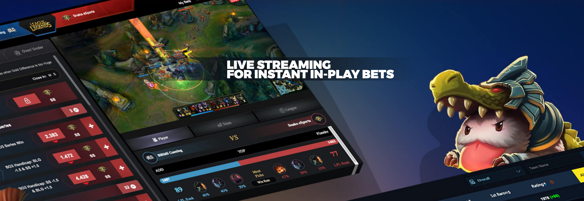 IMEsports LIVE STREAMING FOR INSTANT IN-PLAY BETS