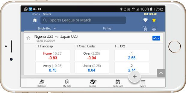 Maxbet Sportsbook Mobile Interface